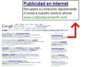 Ejemplo de Anuncio en Google
