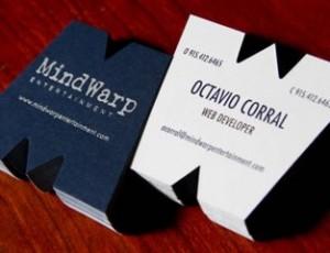 Troquele su tarjeta con una forma especial vinculada con su empresa
